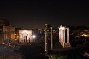 foro romano nuova illuminazione